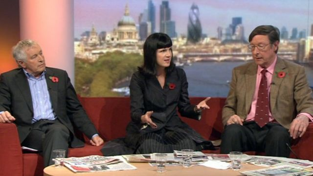 Andrew Marr reviews the Sunday papers with Jonathan Dimbleby, Catherine Mayer and Sir Max Hastings