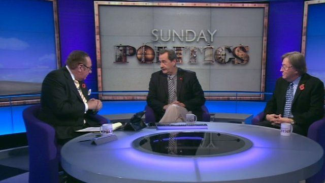 Andrew Neil, Kevin Marsh and David Mellor