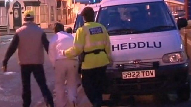 Police in Wales arrest a man