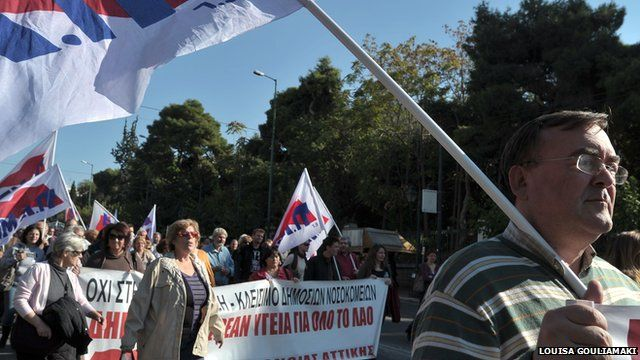 Greek protesters in Athens