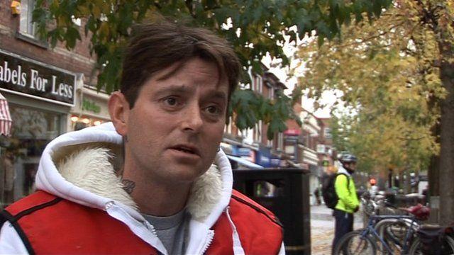 Ricky Bell, homeless man