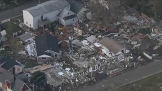 Homes destroyed by Hurricane Sandy