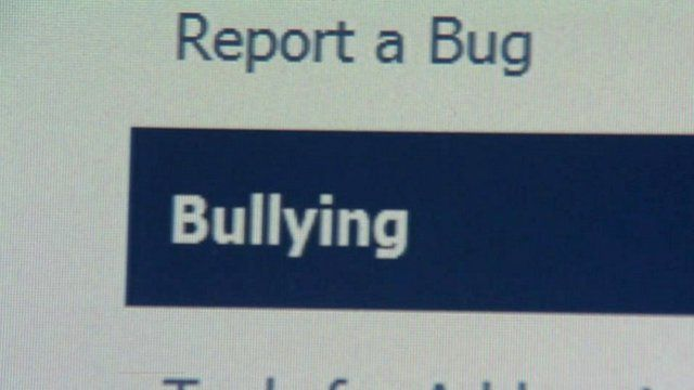 Face book bulling report button
