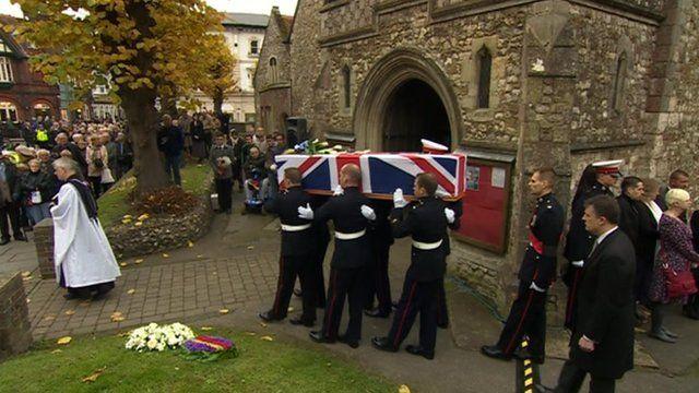 Funeral of marine David O'Connor in Havant