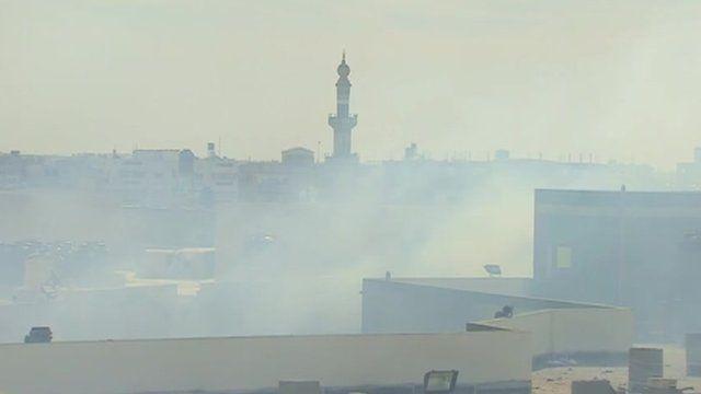Aftermath of Israeli airstrike