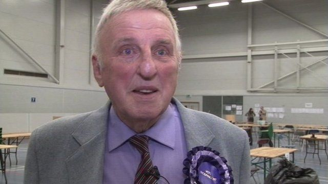Independent Bill Longmore, West Mercia's first police and crime commissioner.