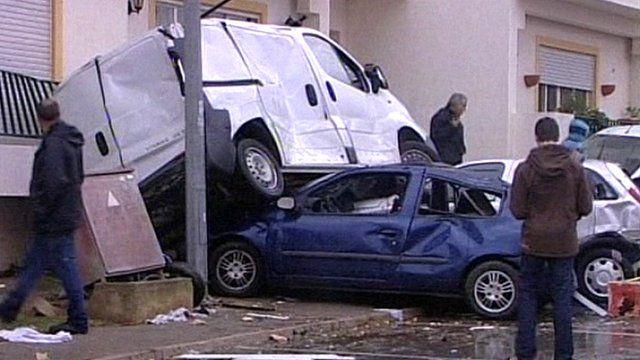 Damaged vehicles