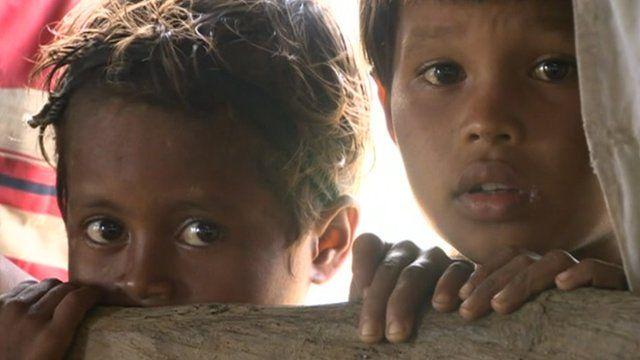 Children in Rakhine state Burma