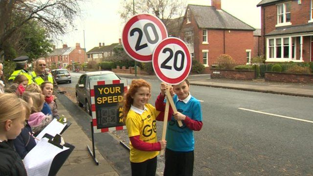 Kids campaigning for 20mph speed limit
