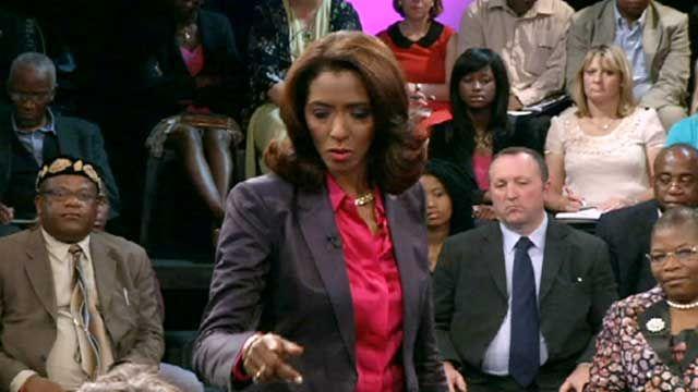 Zeinab Badawi with the World Debate audience