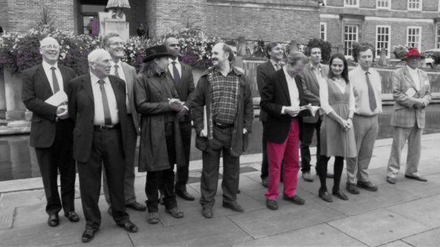 George Ferguson (c) and the 2012 Bristol mayor candidates