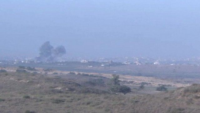 Smoke at Israel/Gaza border