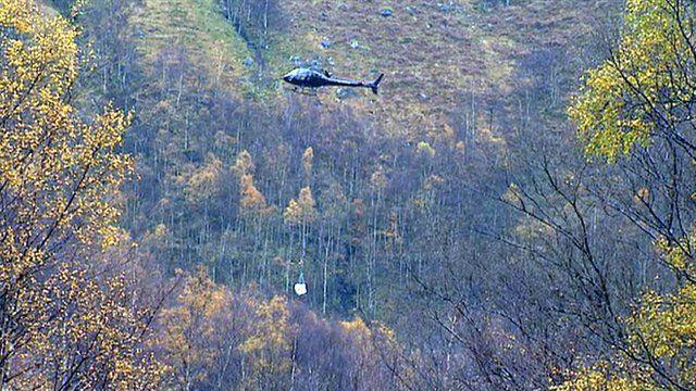 Helicopter in Glen Nevis