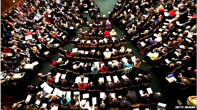 A meeting of the General Synod of the Church of England