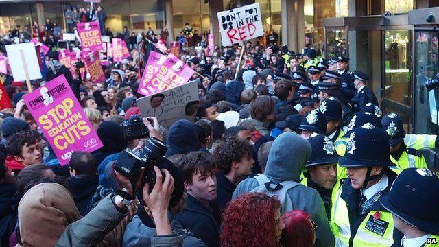 Student protest, November 2010