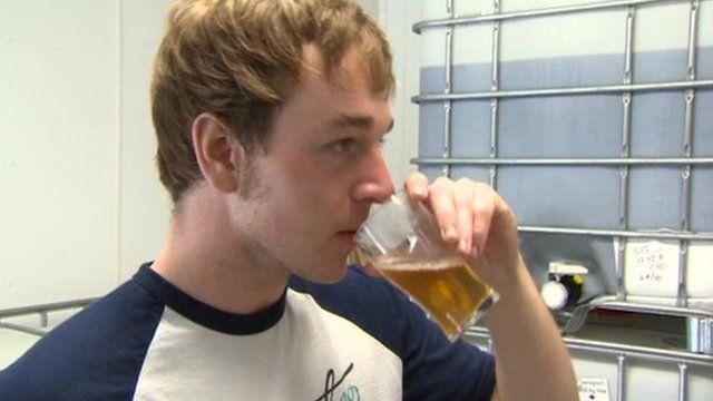 Trainee brewer Owen McGowan