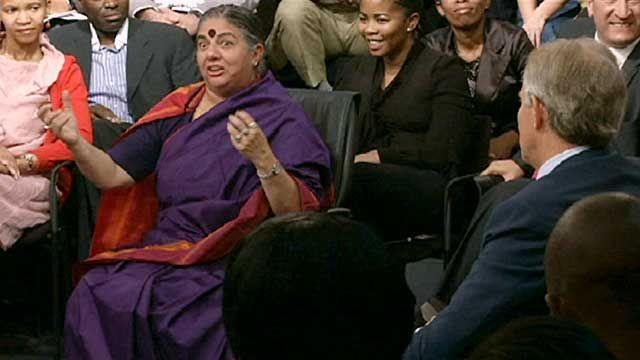 Vandana Shiva with Tony Blair