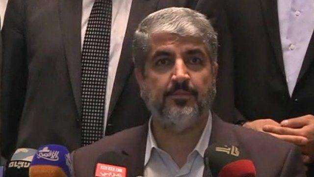 Hamas political leader Khaled Meshaal