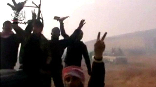 Syrian rebels celebrate