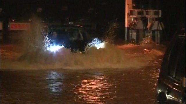 Flooding in Taunton