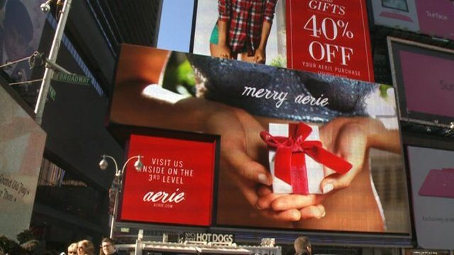 Billboards in Times Square, New York