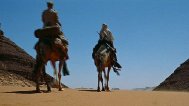 Camels in scene from Lawrence of Arabia
