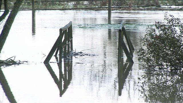 Flood water