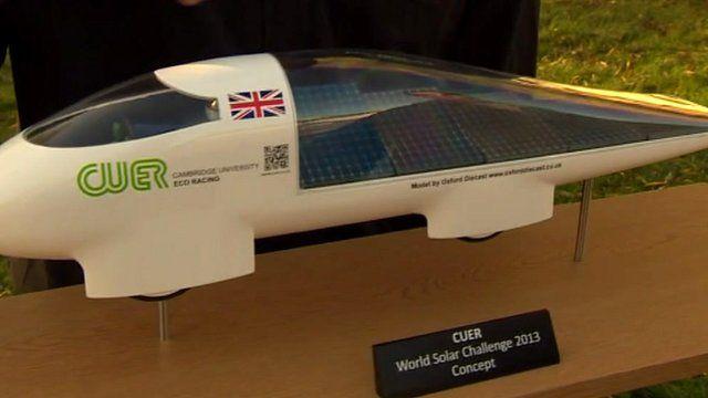 Cambridge University students solar challenge design
