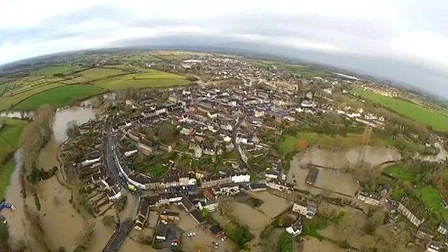 Malmesbury see via drone camera
