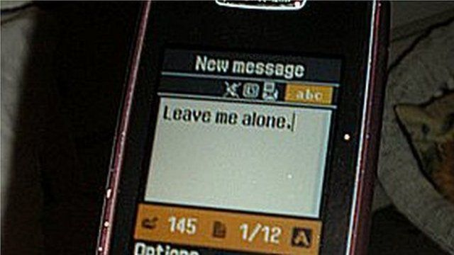 "Girl writes ""Leave me alone"" in a text message (generic)"