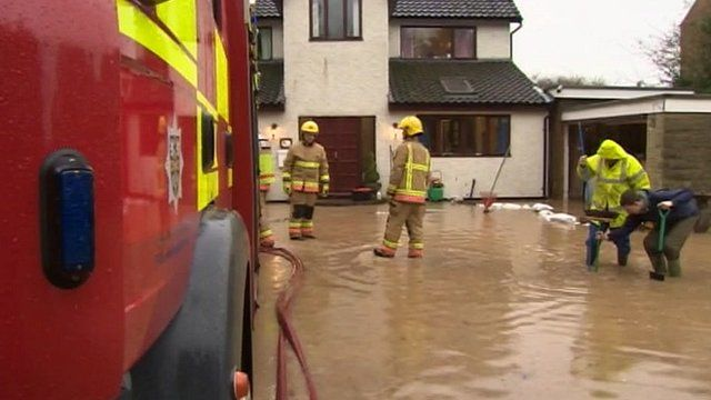 Home in Middleton St George threatened by flooding