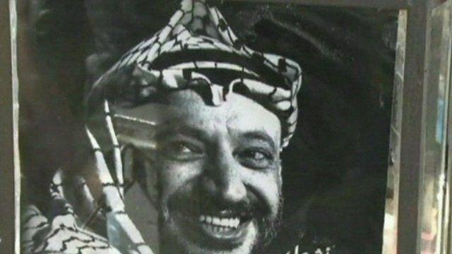 A poster of Yasser Arafat