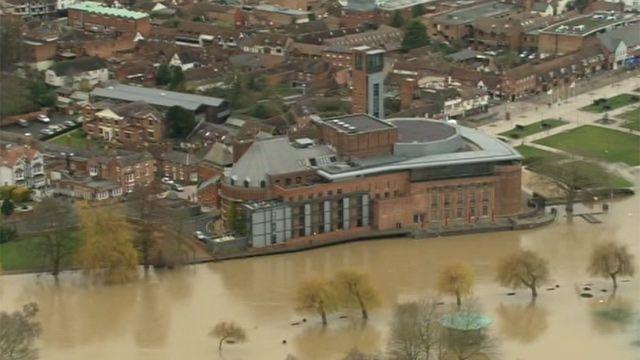 Stratford-upon-Avon in flood