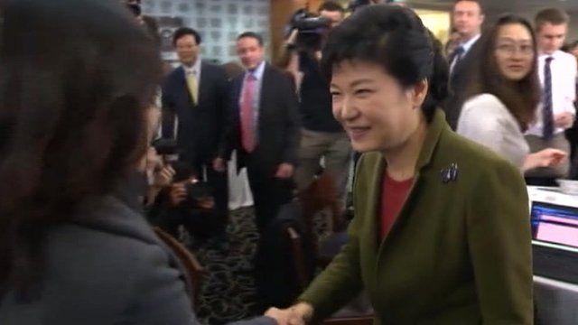 Park Geun-hye, Saenuri Party presidential candidate, South Korea