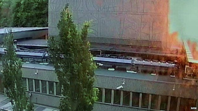 Bomb explosion of government buildings in Oslo caught on CCTV