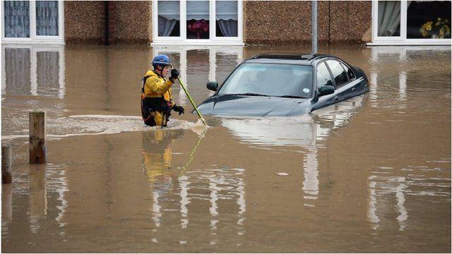 A rescuer in St Asaph