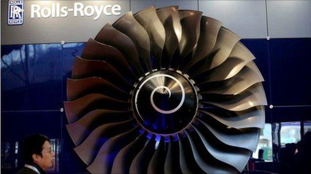 A Rolls Royce engine