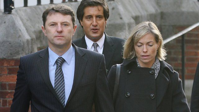 Gerry and Kate McCann arrive at the Leveson Inquiry