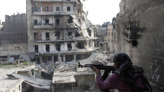 FSA fighter in Aleppo