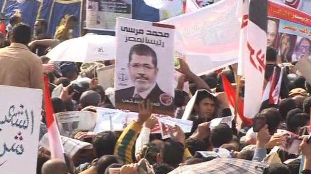 Mass rallies in support of Egypt's President Mohammed Morsi