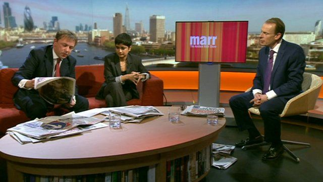 Andrew Marr show paper review