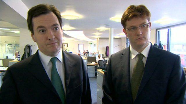 Chancellor George Osborne and Chief Secretary to the Treasury Danny Alexander
