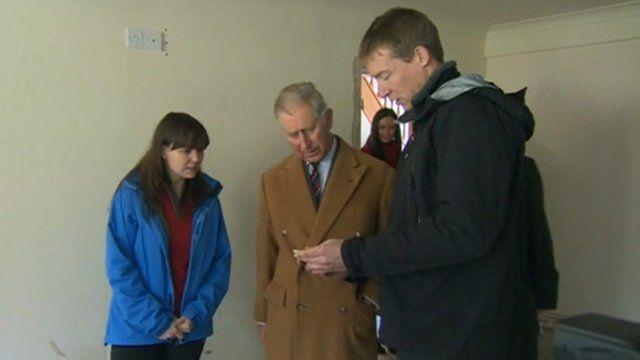 Prince Charles visiting Isla and Martin Jones
