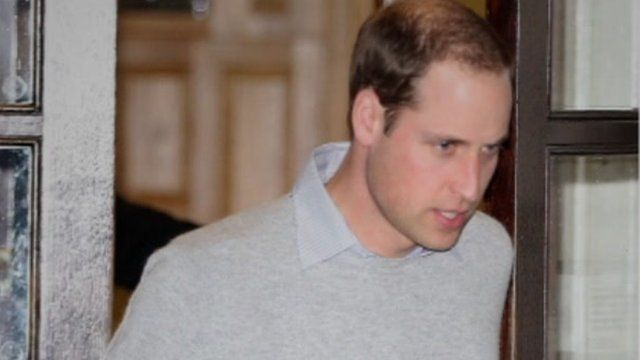 Prince William leaves hospital on Monday evening