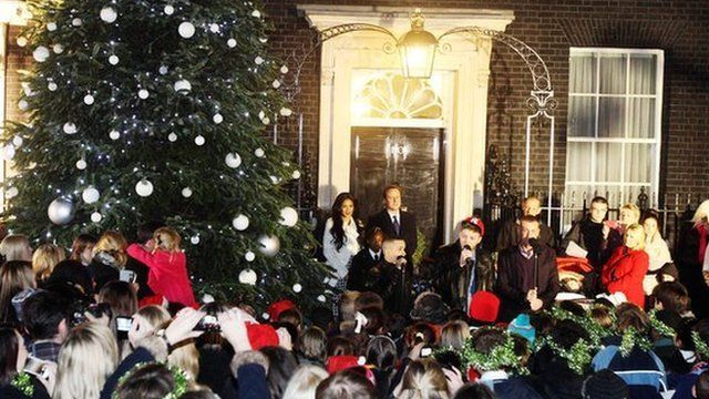 X Factor finalists perform at 10 Downing Street.