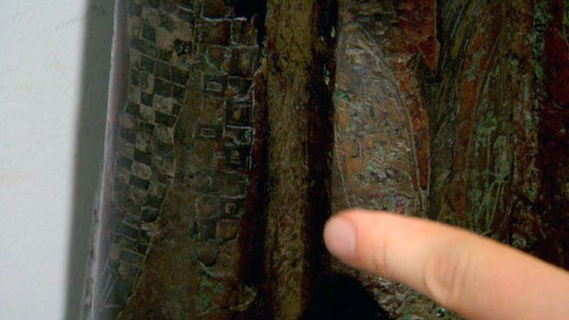 Tartan on a Roman artefact