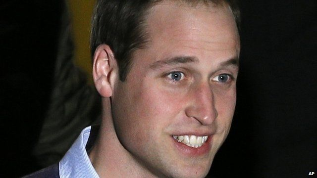 Prince William leaving hospital