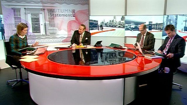 Stephanie Flanders, Andrew Neil, Nick Robinson and Robert Peston
