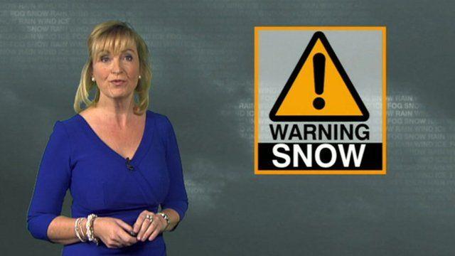 Carol Kirkwood with weather warning