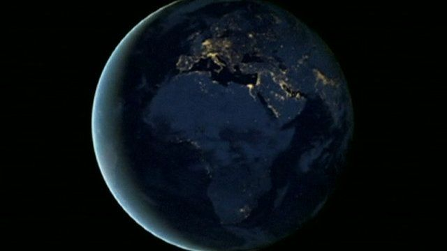 Nasa images of earth at night from space bbc news media player image of the earth at night from space gumiabroncs Choice Image